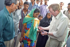 John Barrett MP in India