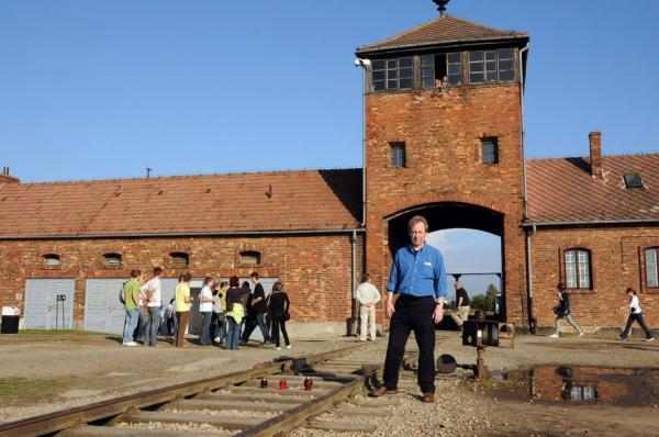 One of the most infamous sites at Auschwitz