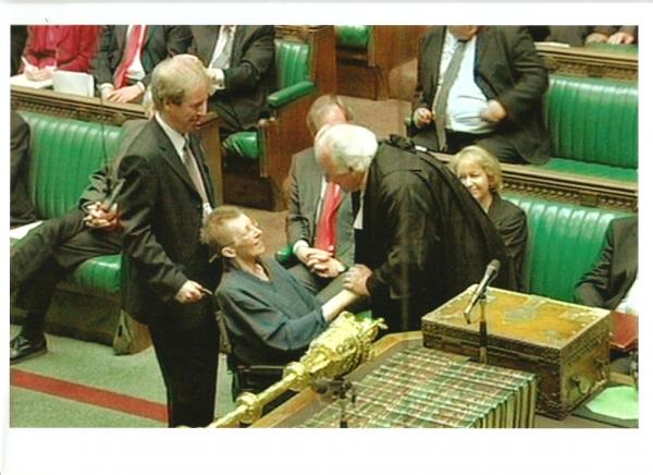 The day I pushed Patsy into the Commons to take her Oath