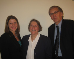Liberal Democrat candidate Eileen Baxendale with Glasgow Representatives Jo Swinson MP and Robert Brown MSP