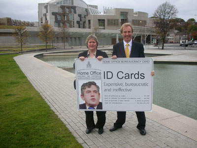 Margaret Smith MSP and John Barrett MP oppose compulsory ID Cards