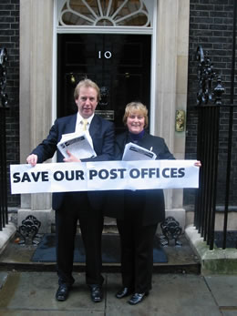 John Barrett MP and Margaret Smith MSP at 10 Downing Street