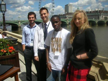 John's parliamentary staff with Tinchy Stryder